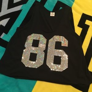✨VS PINK • 86 BLING TANK TOP✨
